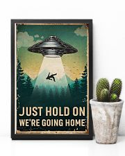 Retro Sky Just Hold On UFO 11x17 Poster lifestyle-poster-8