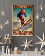 I Know I Ski Like A Girl 16x24 Poster lifestyle-holiday-poster-1