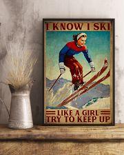I Know I Ski Like A Girl 16x24 Poster lifestyle-poster-3