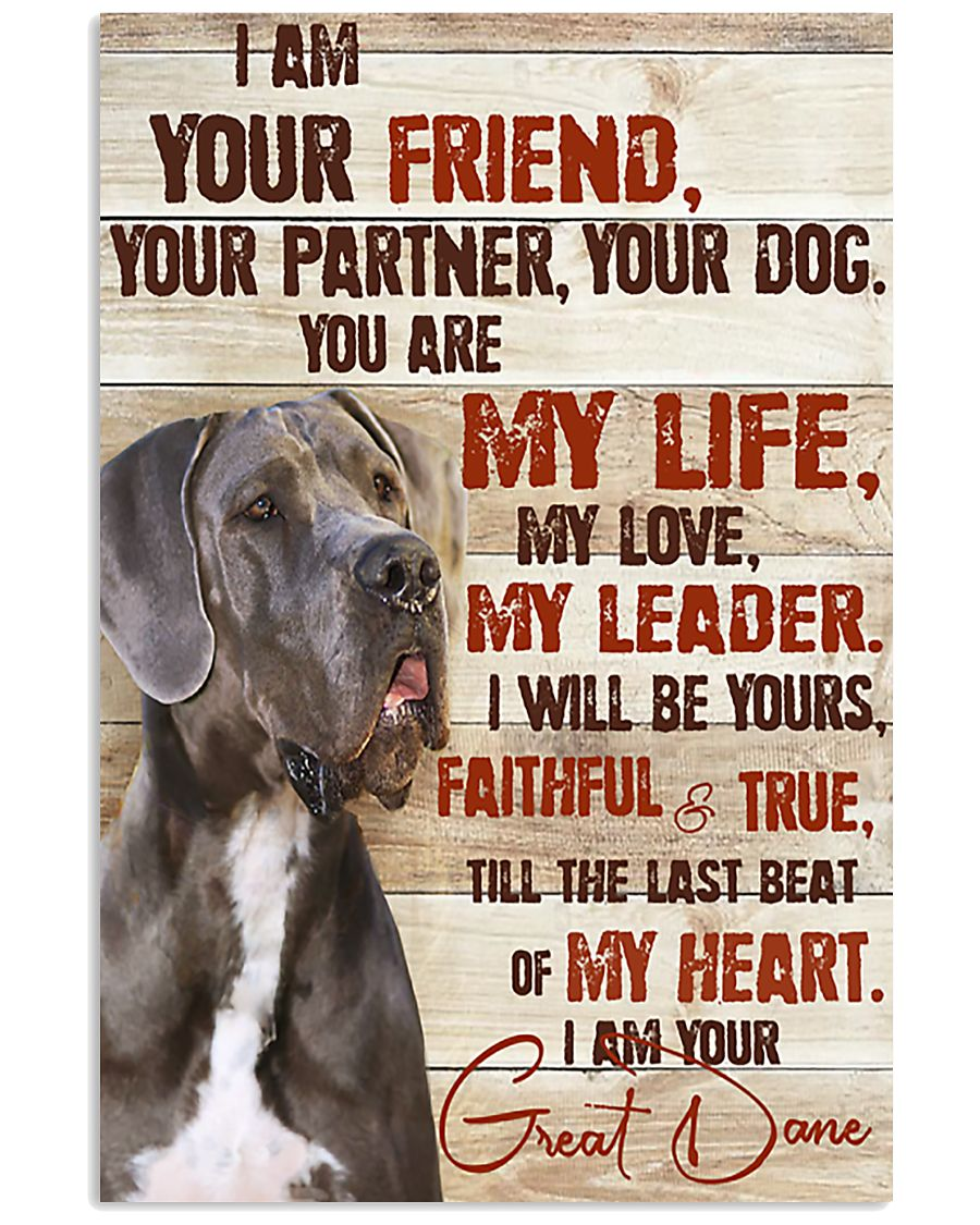 Great Dane I Am Your Friend 11x17 Poster