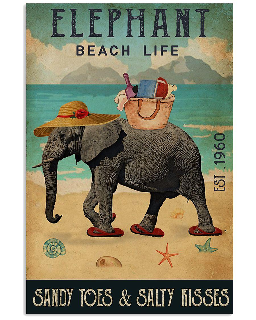 Beach Life Sandy Toes  Elephant 11x17 Poster