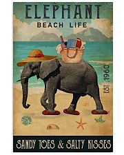 Beach Life Sandy Toes  Elephant 11x17 Poster front