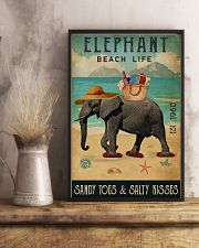 Beach Life Sandy Toes  Elephant 11x17 Poster lifestyle-poster-3