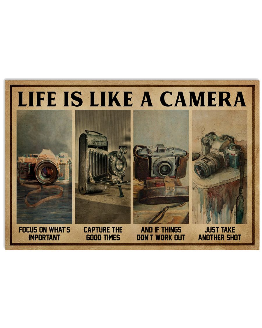 Life Is Like A Camera 24x16 Poster