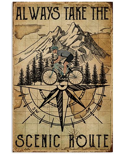 Vintage Always Take The Scenic Route Cycling