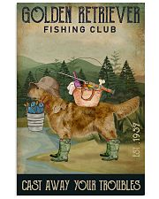 Fishing Cast Away Golden Retriever 11x17 Poster front