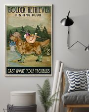 Fishing Cast Away Golden Retriever 11x17 Poster lifestyle-poster-1
