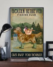 Fishing Cast Away Golden Retriever 11x17 Poster lifestyle-poster-2