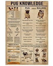 Knowledge Pug 11x17 Poster front