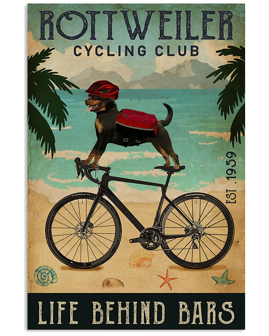 Cycling Club Rottweiler 11x17 Poster