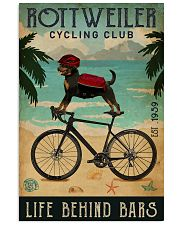 Cycling Club Rottweiler 11x17 Poster front