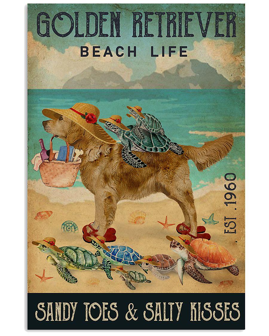 Turtle Beach Life Golden Retriever 11x17 Poster