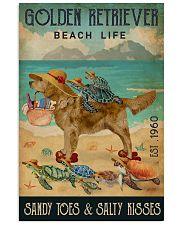 Turtle Beach Life Golden Retriever 11x17 Poster front