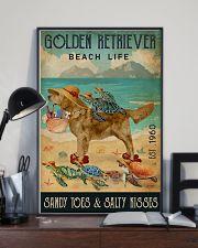 Turtle Beach Life Golden Retriever 11x17 Poster lifestyle-poster-2