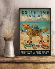 Turtle Beach Life Golden Retriever 11x17 Poster lifestyle-poster-3