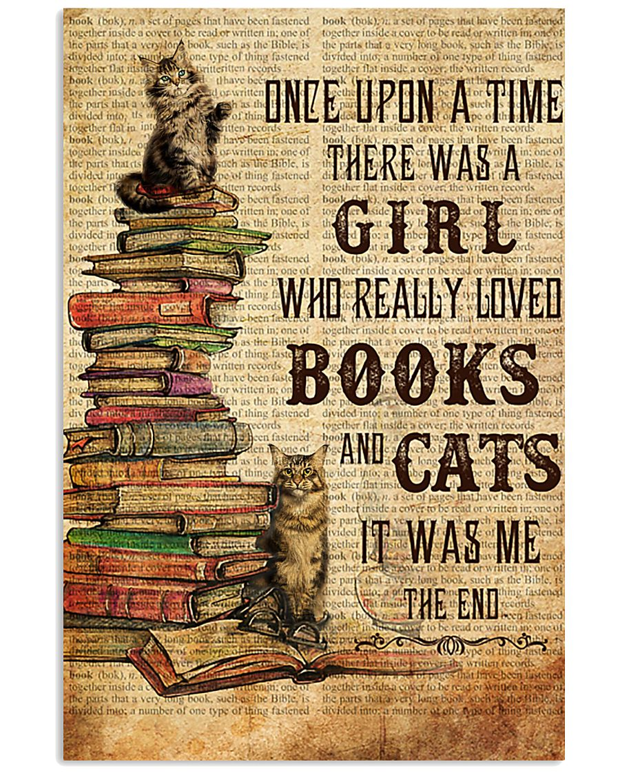 Books Cats Once Upon A Time Maine Coon 11x17 Poster