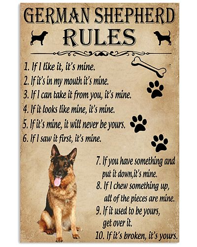 Funny Rules For Your Dog German Shepherd