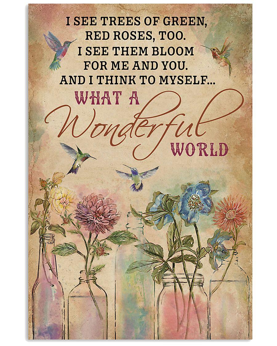 Hummingbird What A Wonderful World 11x17 Poster