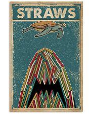 Vintage Straws Shark Sea Turtle 11x17 Poster front