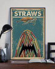 Vintage Straws Shark Sea Turtle 11x17 Poster lifestyle-poster-2