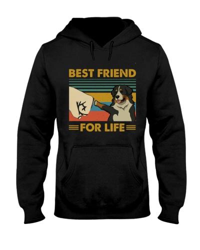 Retro Blue Best Friend Bernese Mountain Dog