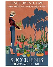 Vintage Once Upon A Time Succulent 16x24 Poster front