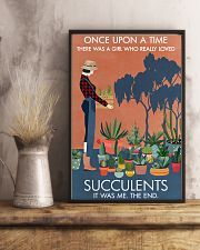 Vintage Once Upon A Time Succulent 16x24 Poster lifestyle-poster-3