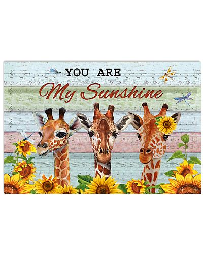 Music Sheet You Are My Sunshine Giraffe
