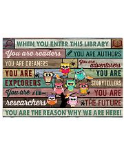 Enter This Library Owl 17x11 Poster front