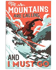 The Mountains Are Calling Skiing 16x24 Poster front