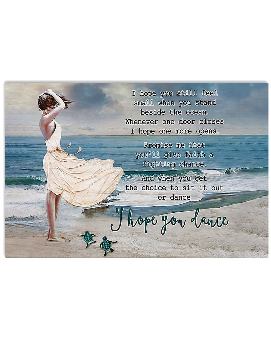 Turtle I Hope You Dance 17x11 Poster