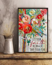 Let Your Faith Hummingbird 11x17 Poster lifestyle-poster-3