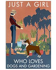 Vintage Just A Girl Loves Gardening And Boxer 11x17 Poster front