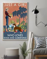 Vintage Just A Girl Loves Gardening And Boxer 11x17 Poster lifestyle-poster-1