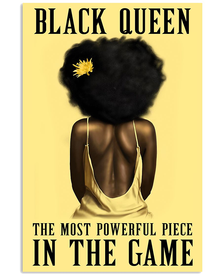 Yellow Black Girl Most Powerful Piece 11x17 Poster