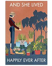 Vintage And She Lived Happily Gardening 16x24 Poster front