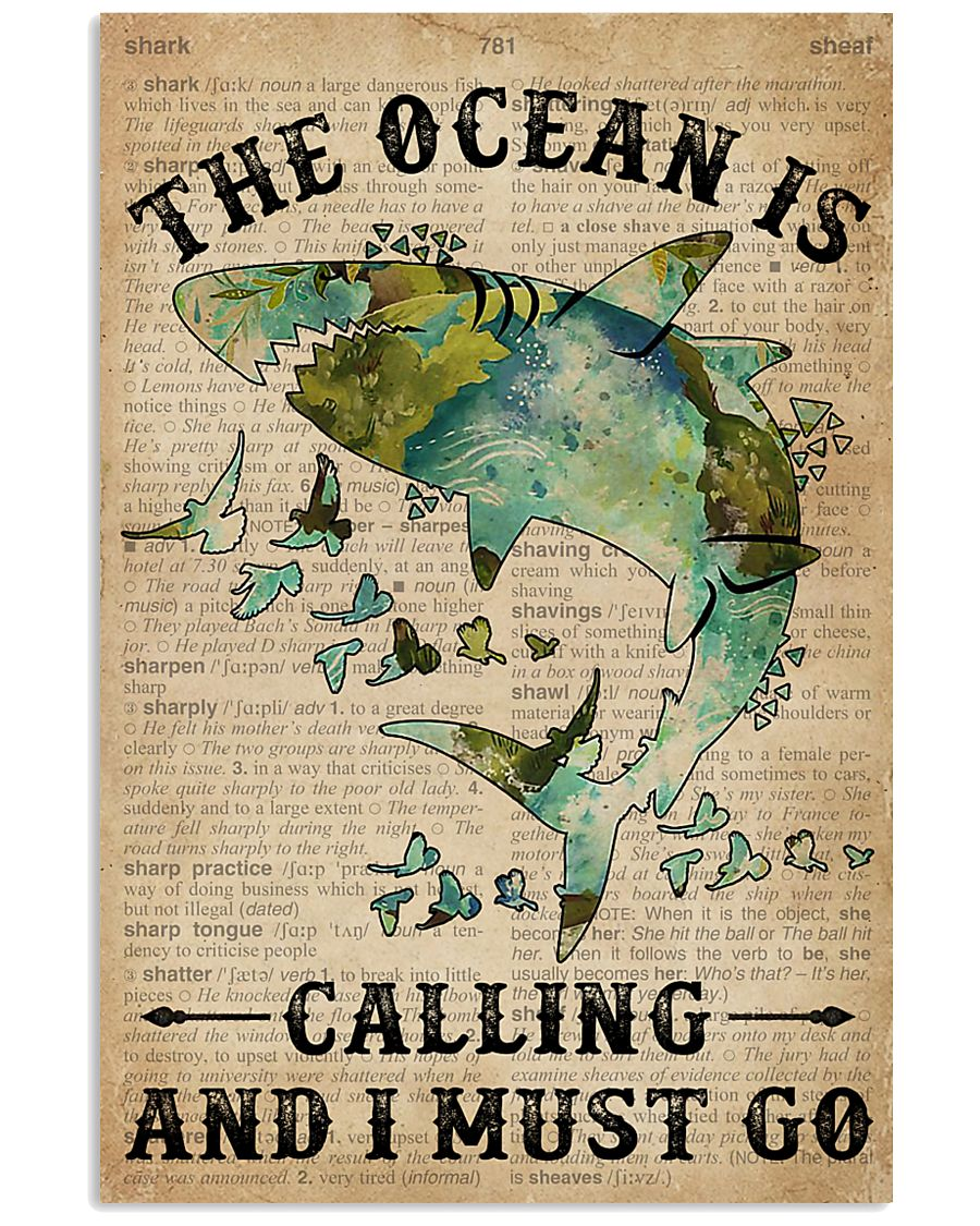 Dictionary The Ocean Is Calling Shark 11x17 Poster