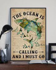 Dictionary The Ocean Is Calling Shark 11x17 Poster lifestyle-poster-2