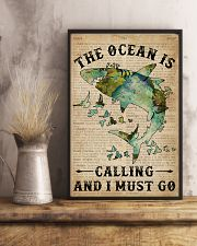Dictionary The Ocean Is Calling Shark 11x17 Poster lifestyle-poster-3