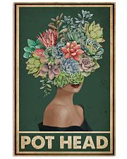 Retro Green Pot Head Succulent 16x24 Poster front