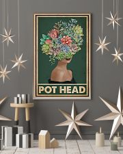 Retro Green Pot Head Succulent 16x24 Poster lifestyle-holiday-poster-1