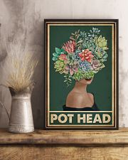 Retro Green Pot Head Succulent 16x24 Poster lifestyle-poster-3
