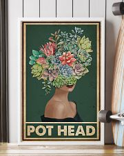 Retro Green Pot Head Succulent 16x24 Poster lifestyle-poster-4
