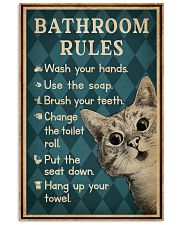 Bathroom Rules Cat 16x24 Poster front