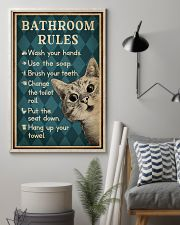 Bathroom Rules Cat 16x24 Poster lifestyle-poster-1