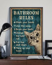 Bathroom Rules Cat 16x24 Poster lifestyle-poster-2