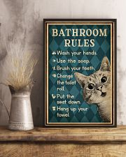Bathroom Rules Cat 16x24 Poster lifestyle-poster-3