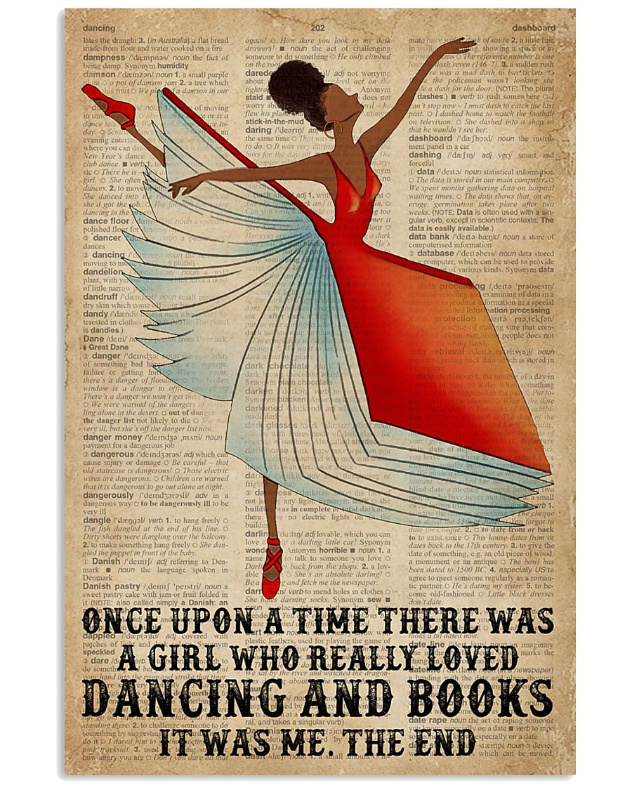 Book Dancing Black Girl Once Upon A Time 16x24 Poster