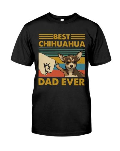 Retro Blue Best Chihuahua Dad Ever