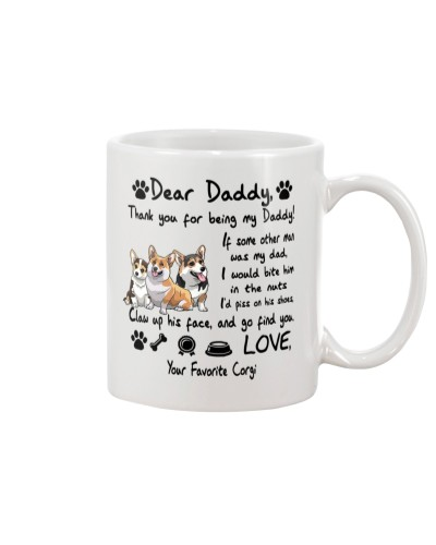 Corgi Thank You For Being My Dad